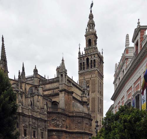 one view of Seville's cathedral
