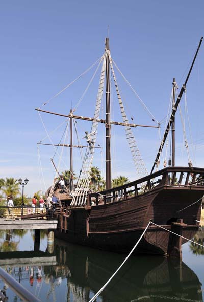 the replica of one of Columbus's ships