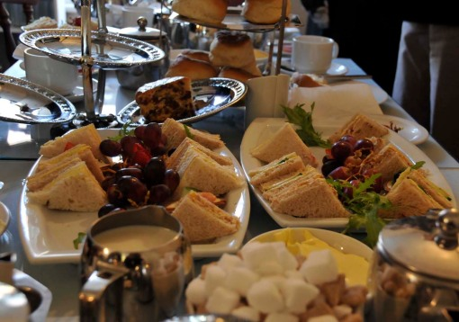 these are just the leftovers, after we'd enjoyed a typical afternoon tea