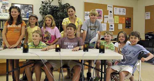 "several of the youth in attendance gathered for an exciting ""equine quiz bowl"" game on Friday"