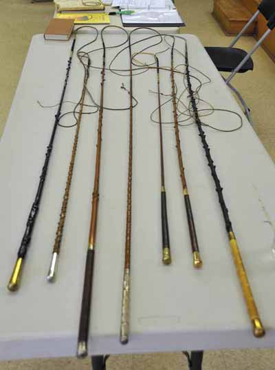 Richard Nicoll presented a fascinating talk on making and repairing old bow-top whips