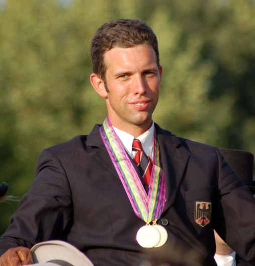 the Germany gold-medal winner in the four-in-hand division, Tobias Buecker