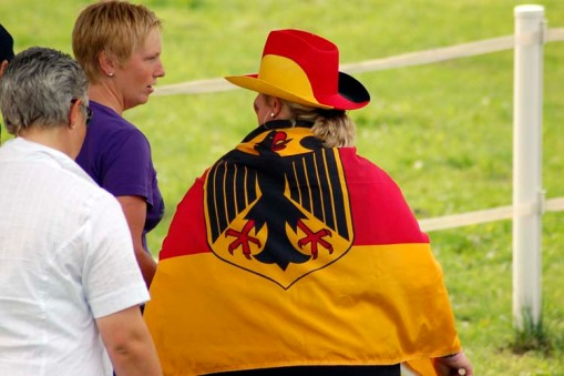 a German fan getting into the spirit of the day