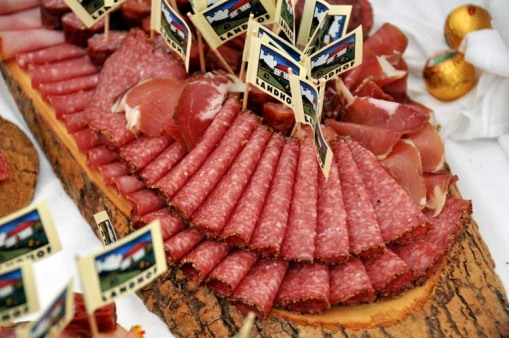 ... and salami and ham at the Austrian table