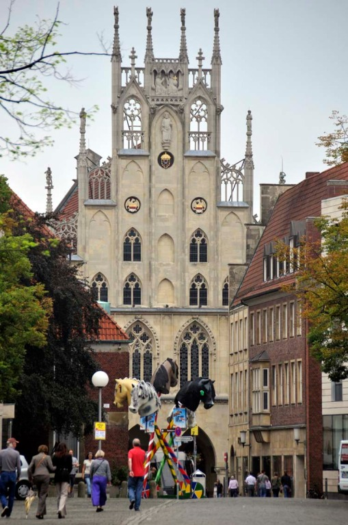 Münster's rebuilt Rathaus (city hall) is where the Peace of Westphalia Treaty was signed in 1648 to end the Thirty Years' War