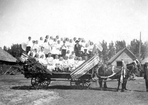 old image - parade wagon