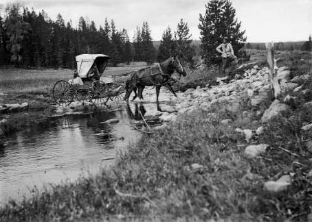 dpla horse and carriage crossing river